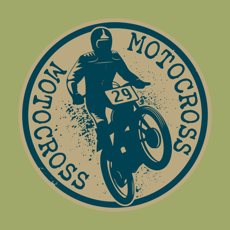 x games: Motocross abstract label