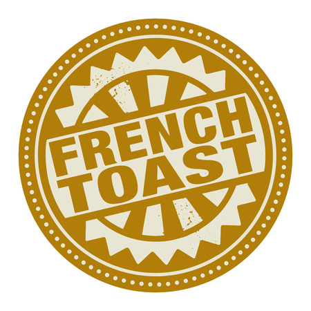 french text: Abstract stamp or label with the text French Toast written inside Illustration