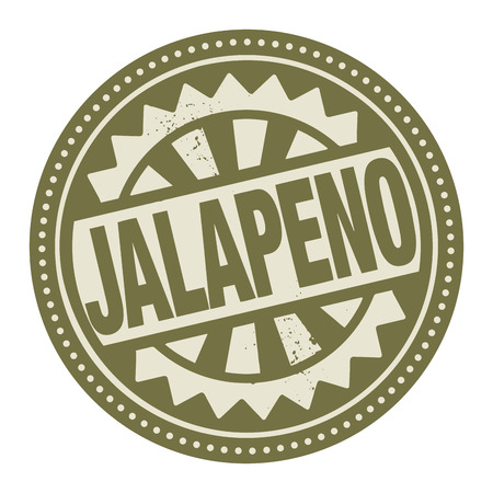 jalapeno: Abstract stamp or label with the text Jalapeno written inside Illustration