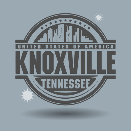 Stamp or label with text Knoxville, Tennessee inside Vector