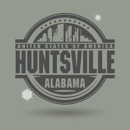Stempel of label met tekst Huntsville, Alabama binnen
