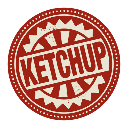 Abstract stamp or label with the text Ketchup written inside Vector