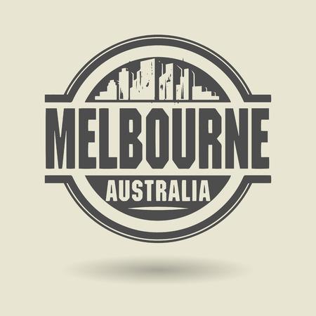 melbourne australia: Stamp or label with text Melbourne, Australia inside