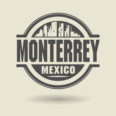 monterrey: Stamp or label with text Monterrey, Mexico inside
