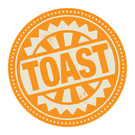 caffee: Abstract stamp or label with the text Toast written inside
