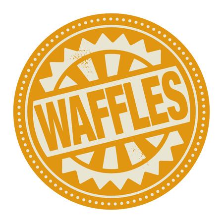 Abstract stamp or label with the text Waffles written inside