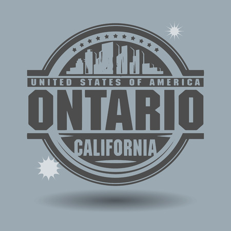 ontario: Stamp or label with text Ontario, California inside