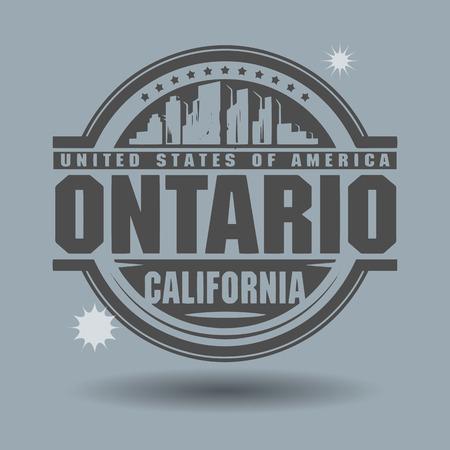 ontario: Timbro o l'etichetta con il testo Ontario, California interno