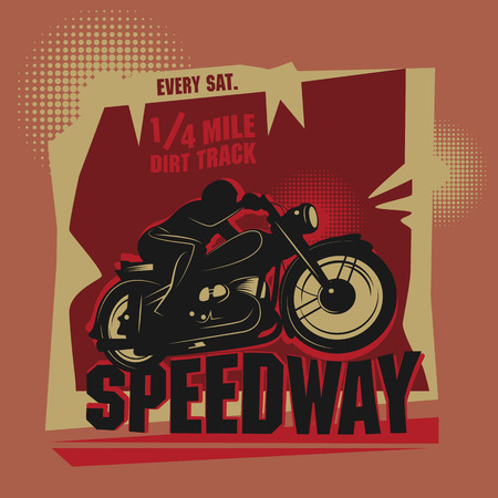 speedway: Abstract background with the words Speedway inside Illustration