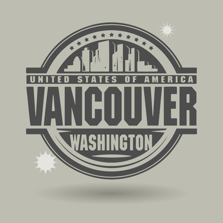 washington: Stamp or label with text Vancouver, Washington inside