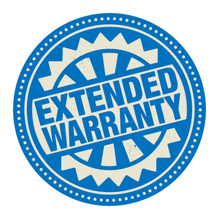 extended: Abstract stamp or label with the text Extended Warranty written inside