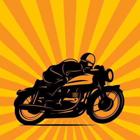 casco moto: Fondo raza de la motocicleta de la vendimia