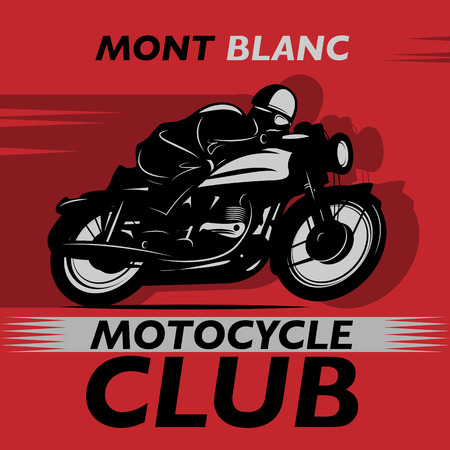 Abstract background with the words Motocycle Club inside Vector