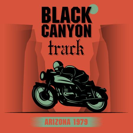 Vintage Motorcycle adventure poster Vector