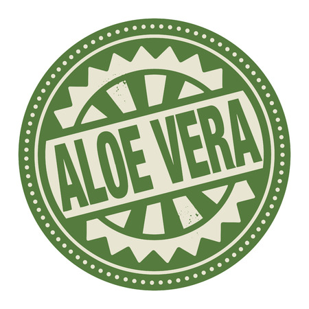 vera: Abstract stamp or label with the text Aloe Vera written inside