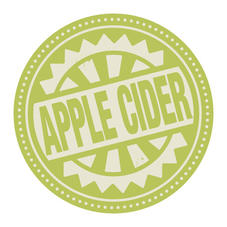 cider: Abstract stamp or label with the text Apple Cider written inside