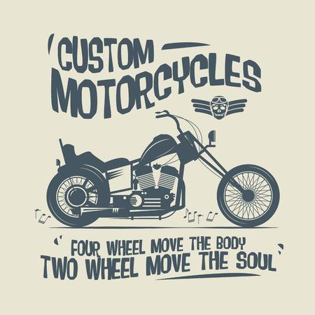 motociclista: Etiqueta de la motocicleta de la vendimia o póster Vectores