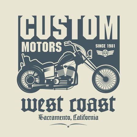 Vintage Motorcycle label or poster