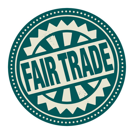 trade fair: Abstract stamp or label with the text Fair Trade written inside Illustration