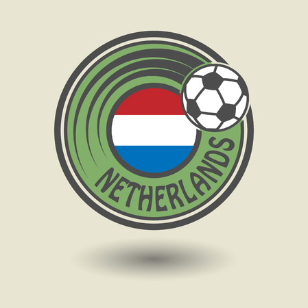 Stamp or label with word Netherlands Vector