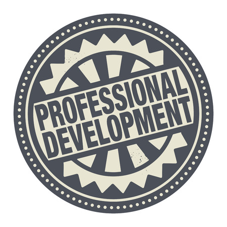 Abstract stamp or label with the text Professional Development written inside
