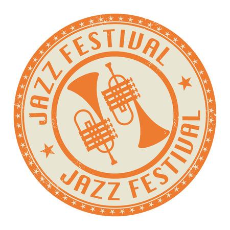 rubber bands: Jazz Festival stamp or label