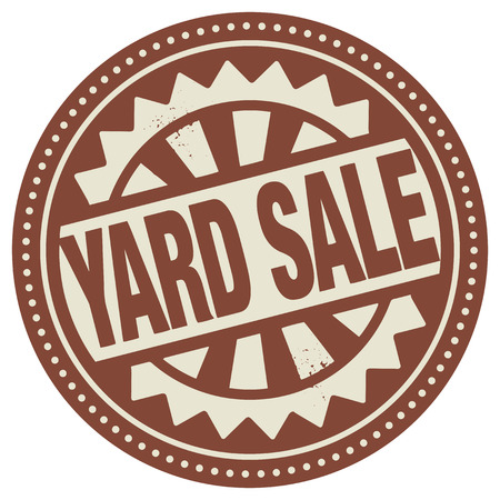 yard sale: Abstract stamp or label with the text Yard Sale written inside