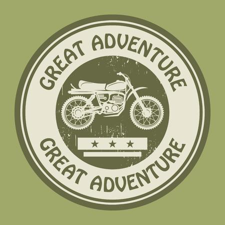Motocross adventure label or stamp Vector