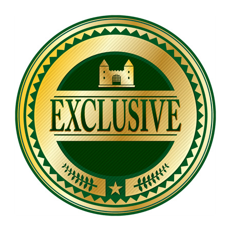 rarity: Stamp or label with the word exclusive written inside