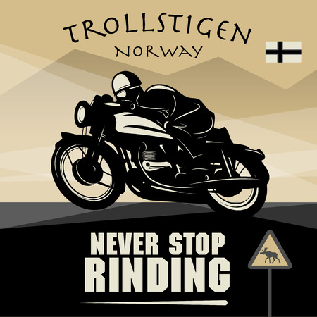 Vintage Motorcycle adventure poster