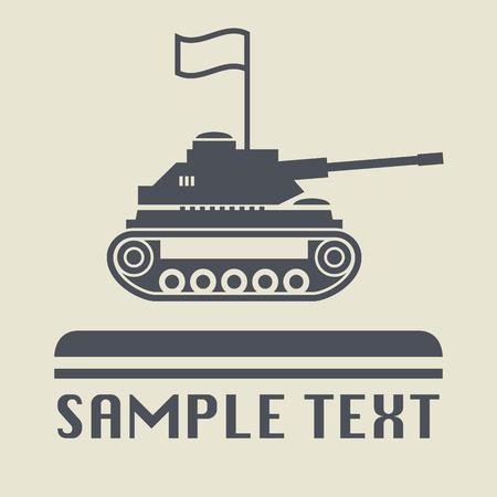 tanque de guerra: Icono Panzer o signo