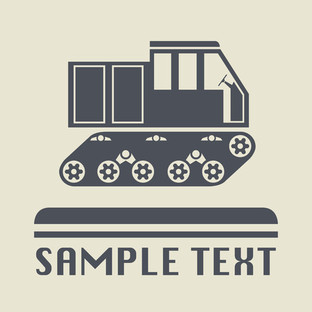 transport icon: Crawler transport icon or sign Illustration