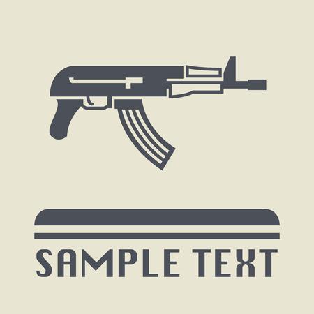 automatic rifle: Automatic rifle icon or sign Illustration