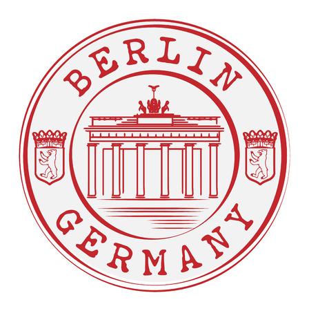 brandenburg: Stamp with words Berlin, Germany inside