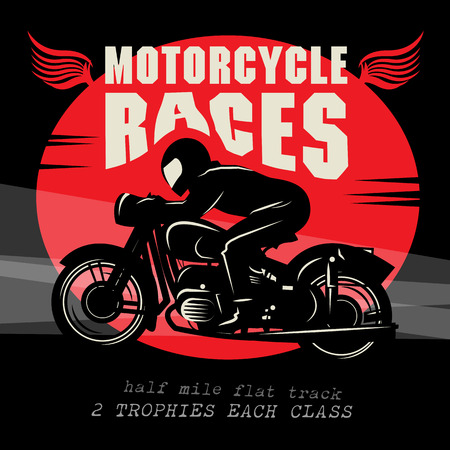 Vintage Motorcycle race poster Vector