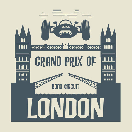 formula car: Abstract background with the words Grand Prix of London inside