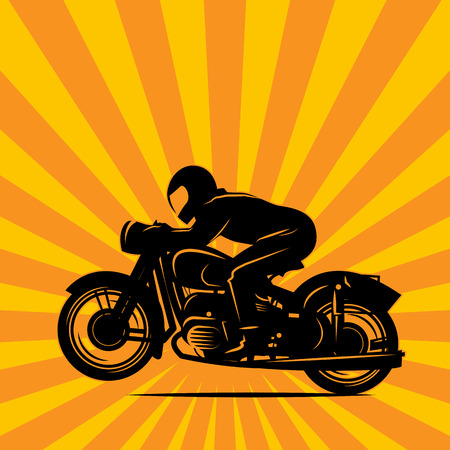 motocross riders: Vintage Motorcycle race background