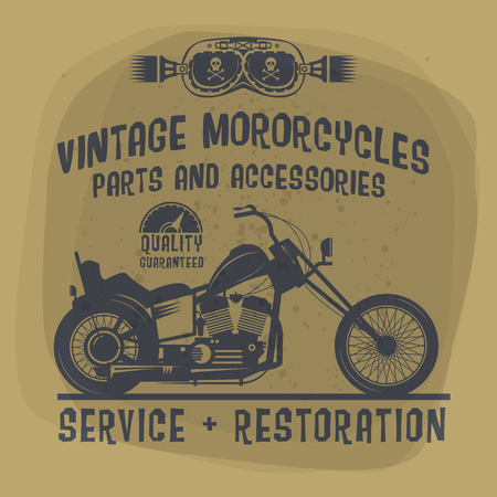 Vintage Motorcycle label or poster Vector