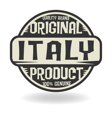 made in italy: Abstract stamp with text Original Product of Italy
