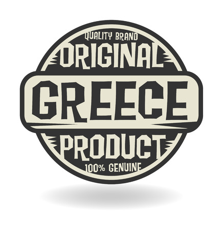 made in greece stamp: Abstract stamp with text Original Product of Greece