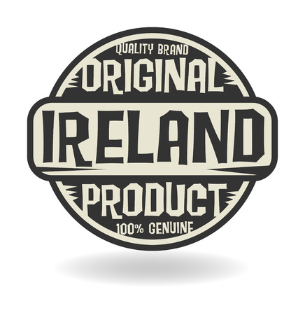 Abstract stamp with text Original Product of Ireland Vector
