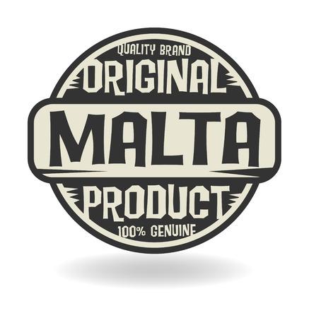 テキスト マルタ オリジナル製品で抽象的なスタンプ