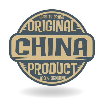 made in china: Abstract stamp with text Original Product of China