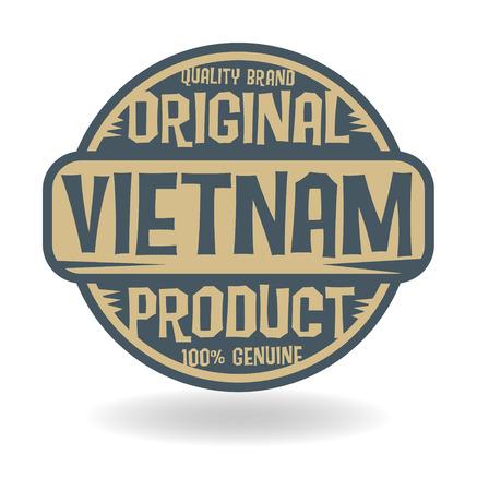 베트남의 텍스트 기존 제품 추상 스탬프 일러스트