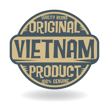Abstract stamp with text Original Product of Vietnam