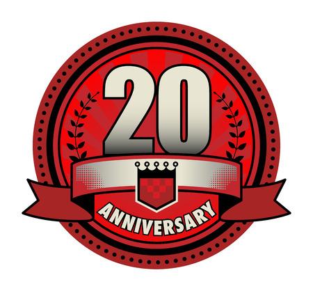 20th: Label 20 anniversary Illustration