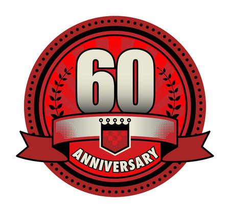 60th: Label 60 anniversary Illustration