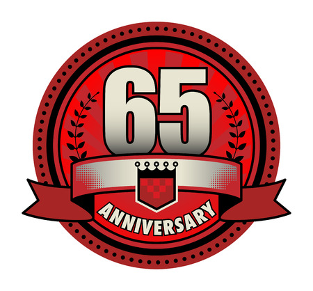 65th: Stamp 65 anniversary Illustration