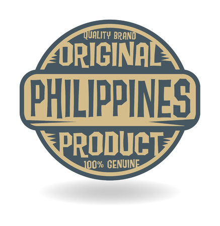 Abstract stamp with text Original Product of Philippines