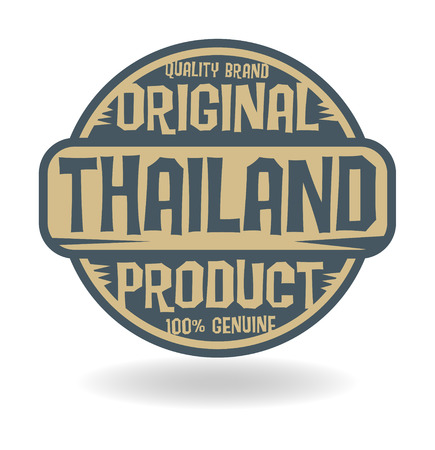 Abstract stamp with text Original Product of Thailand Vector